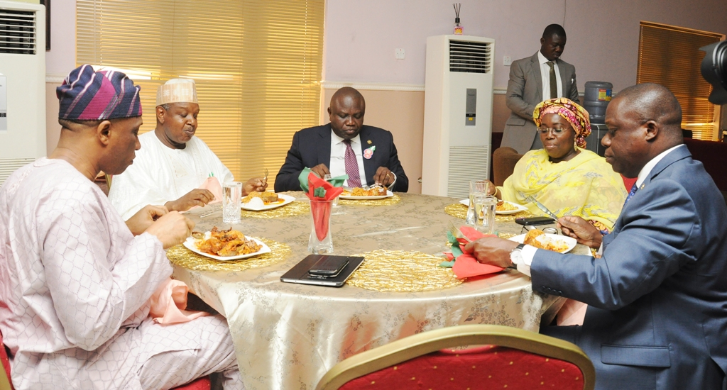 Photo of GOVS. AMBODE, BAGUDU AT OFFICIAL LAUNCH OF LAKE RICE AT LAGOS HOUSE, IKEJA
