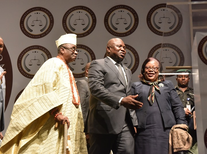 Photo of GOV. AMBODE AT ADMINISTRATION OF JUSTICE SUMMIT AT EKO HOTELS AND SUITES, VICTORIA ISLAND