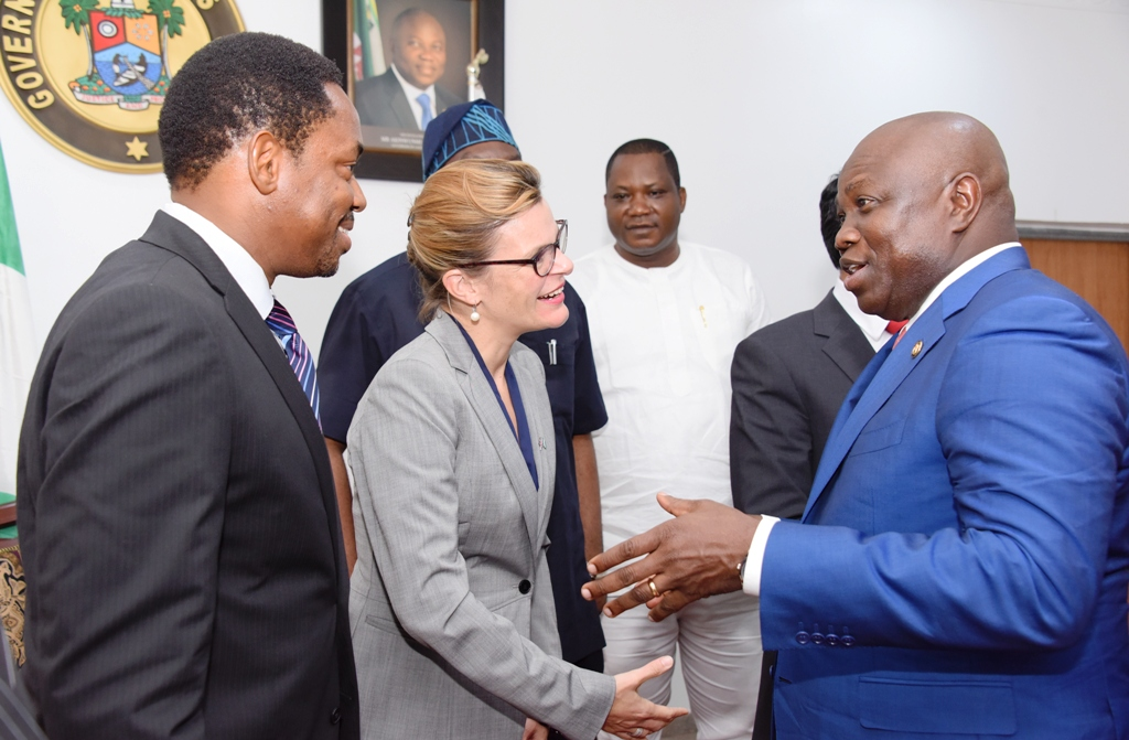 Photo of GOV. AMBODE RECEIVES BRITISH DEPUTY HIGH COMMISSIONER, LAURE BEAUFILS AT LAGOS HOUSE, IKEJA