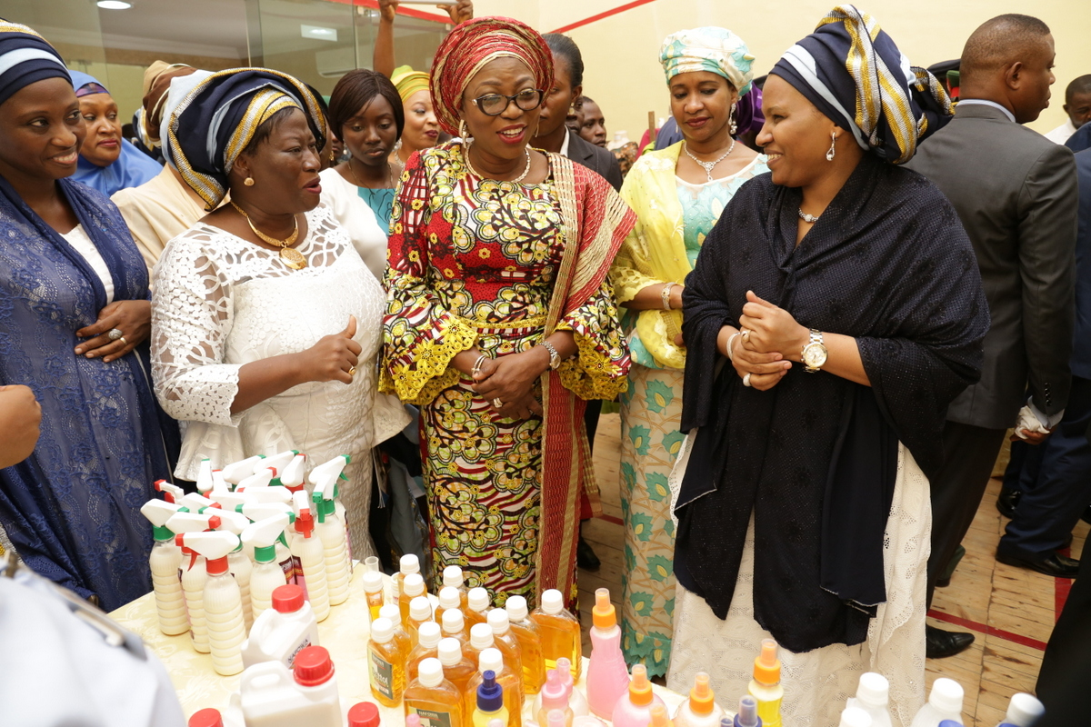Photo of WIFE OF LAGOS STATE GOVERNOR, MRS. BOLANLE AMBODE ATTENDS NAFOWA CLOSING CEREMONY OF SKILL ACQUISITION TRAINING PROGRAM