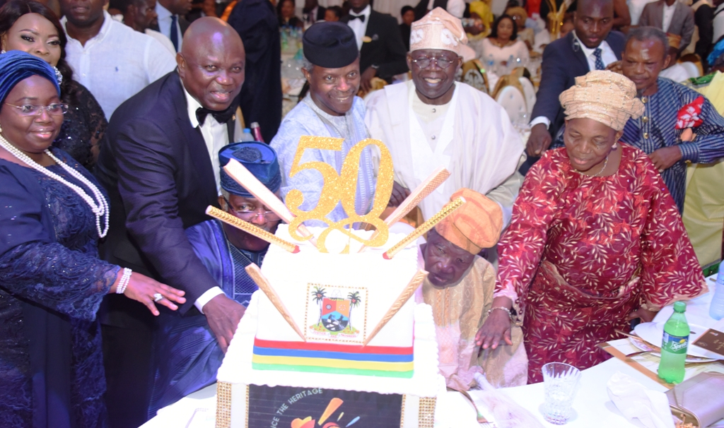 Photo of PICTURES: ACTING PRESIDENT OSINBAJO, GOV. AMBODE, ASIWAJU TINUBU, OTHER DIGNITARIES AT LAGOS @ 50 GALA NIGHT AT LAGOS HOUSE, IKEJA