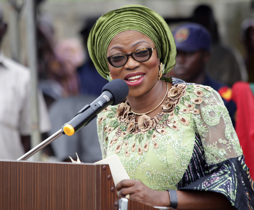 Photo of WIFE OF LAGOS STATE GOVERNOR, BOLANLE AMBODE AT FLAG-OFF OF NYSC HEALTH INITIATIVE FOR RURAL DWELLERS IN POKA, EPE