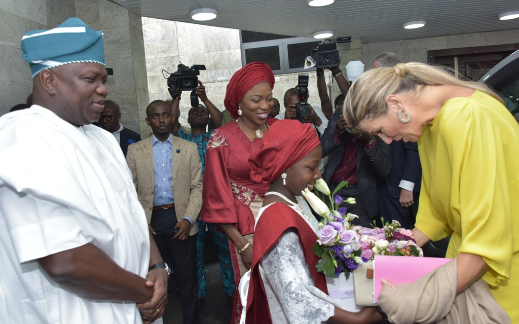 Photo of QUEEN OF NETHERLANDS VISITS AMBODE, LAUDS LASG'S HEALTH POLICY