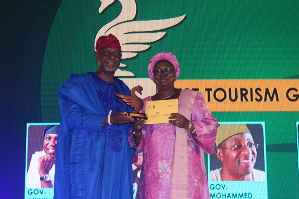 Photo of BEST TOURISM GOVERNOR AWARD' PRESENTED TO  LAGOS STATE GOVERNOR, MR. AKINWUNMI AMBODE AT THE BALEARICA AWARD 2017.