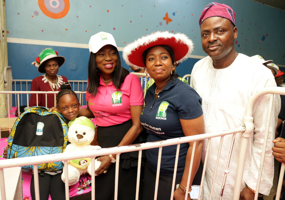 Photo of Mrs. Bolanle Ambode during 'Love at Christmas', at Massey Street Children's Hospital, Lagos, on Monday, 25th December, 2017.