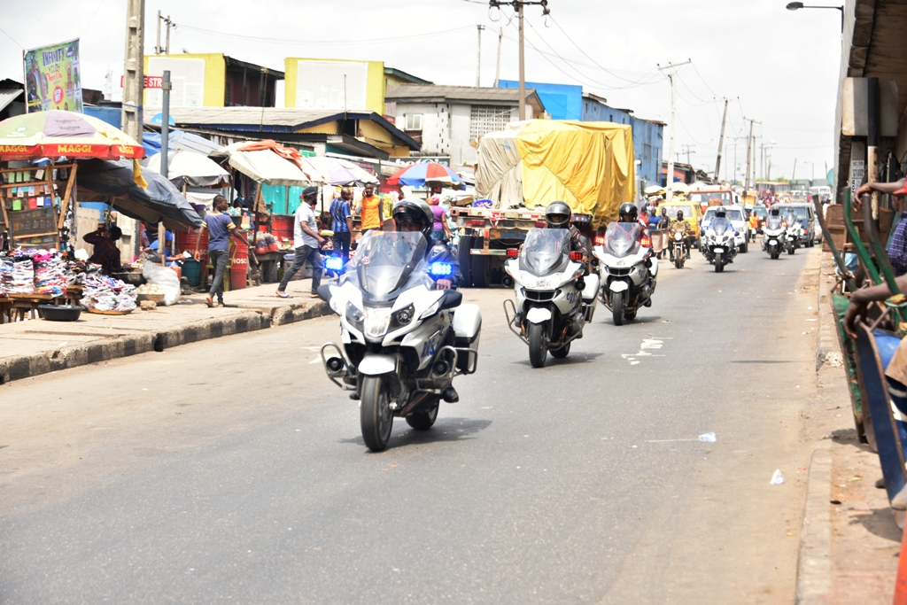 Photo of MEN OF RAPID RESPONSE SQUAD (RRS) PATROLS ACROSS THE STATE WITH THE NEWLY DONATED POWER BIKES