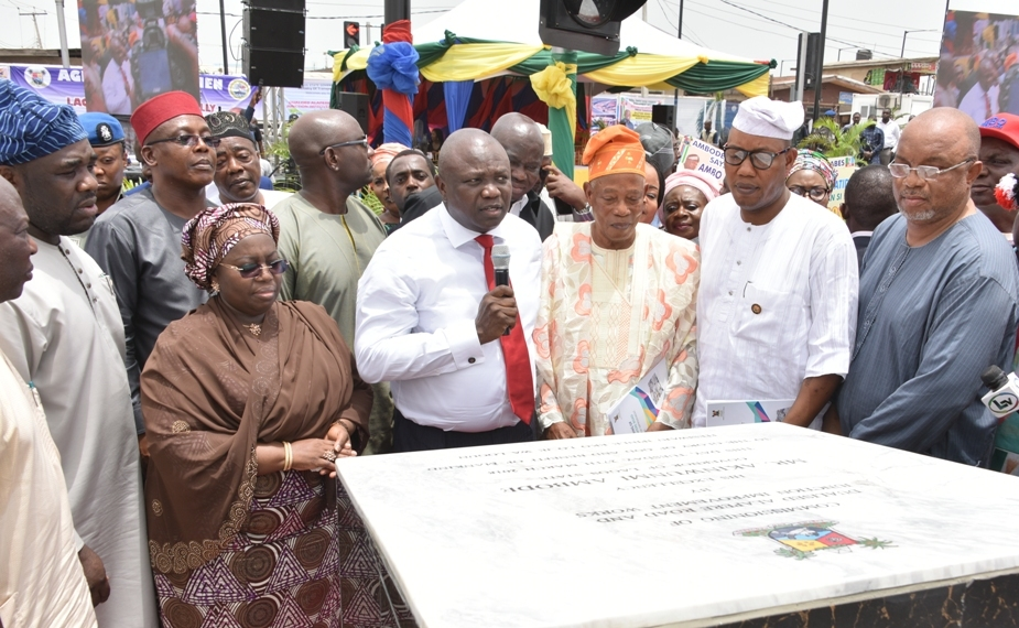 Photo of GOV. AMBODE COMMISSIONS NEWLY DUALIZED ALAPERE ROAD AND JUNCTION IMPROVEMENT WORK AT KETU