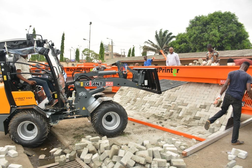 Photo of LASG PROCURES PAVING STONE LAYING EQUIPMENT TO ENHANCE ROAD CONSTRUCTION