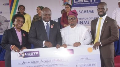 Photo of AMBODE PRESENTS CHEQUES TO 2,000 BENEFICIARIES OF EMPLOYMENT TRUST FUND