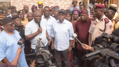Photo of GOV AMBODE MEETS WITH HEADS OF SECURITY AGENCIES AND LASTMA OFFICIALS AT LASTMA YARD, OSHODI ON SUNDAY, DECEMBER 9, 2018