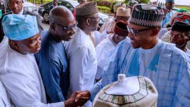 Photo of GOV. AMBODE CONGRATULATES PRESIDENT BUHARI AND VICE PRESIDENT OSINBAJO ON RE-ELECTION IN ABUJA, ON WEDNESDAY, FEBRUARY 27, 2019