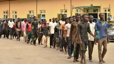 Photo of LAGOS STATE TASK FORCE INTERCEPTS TRUCK WITH 123 MEN, 48 BIKES