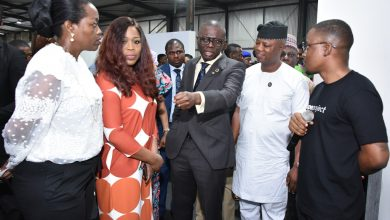 Photo of SANWO-OLU AT OPENING CEREMONY OF THE INAUGURAL DESIGN WEEK LAGOS FESTIVAL AT THE WAREHOUSE, IKOYI, ON FRIDAY OCTOBER 4, 2019