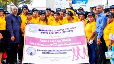 Photo of FIRST LADY OF LAGOS STATE, DR. (MRS) IBIJOKE SANWO-OLU AT COWLSO'S AWARENESS WALK AND VISIT TO LASUTH, IKEJA ON SATURDAY, OCTOBER 12, 2019