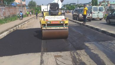 Photo of Continuation of work by LSPWC at Igando road by Igando Community High School.