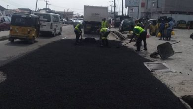 Photo of Before, During and After maintenance work done at Ado-Badore road, Akins Bus Stop, Eti-Osa