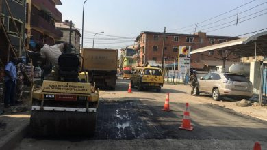Photo of Maintenance work done at another section of Herbert Macaulay road, Lagos Mainland