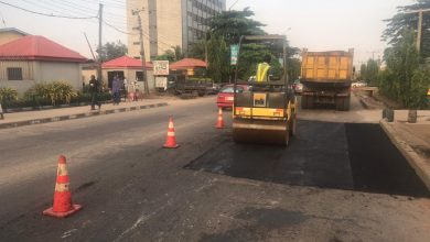 Photo of Failed sections of Acme road, Ogba and Jonathan Coker road, Ifako Ijaiye being addressed by LSPWC
