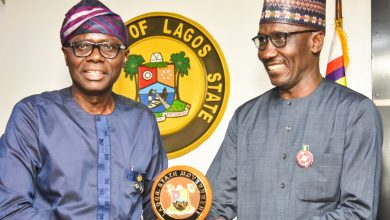 Photo of GOV. SANWO-OLU RECEIVES GMD OF NNPC, MALLAM MELE KYARI AT LAGOS HOUSE, ALAUSA, IKEJA, ON WEDNESDAY, NOVEMBER6, 2019