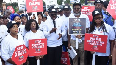 Photo of GOV SANWO-OLU LEADS MARCH AGAINST DOMESTIC AND SEXUAL VIOLENCE TAGGED: ''WALK TO COMMIT AND ACT'' IN ALAUSA, IKEJA, ON TUESDAY, NOVEMBER 26, 2019