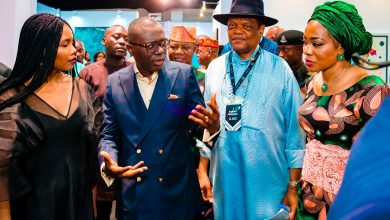 Photo of GOV. SANWO-OLU ATTENDS THE ART X LAGOS 2019 VIP OPENING NIGHT COCKTAIL AT FEDERAL PALACE HOTEL, V.I ON FRIDAY, NOVEMBER 1, 2019
