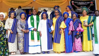 Photo of FIRST LADY OF LAGOS STATE, DR. (MRS) IBIJOKE SANWO-OLU AT THE THANKSGIVING SERVICE FOR COWLSO 2019 NATIONAL WOMEN'S CONFERENCE ON SUNDAY, 24TH NOVEMBER, 2019