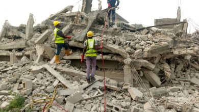 Photo of Situation Report on Collapsed Uncompleted Structure at Ago Palace Way.
