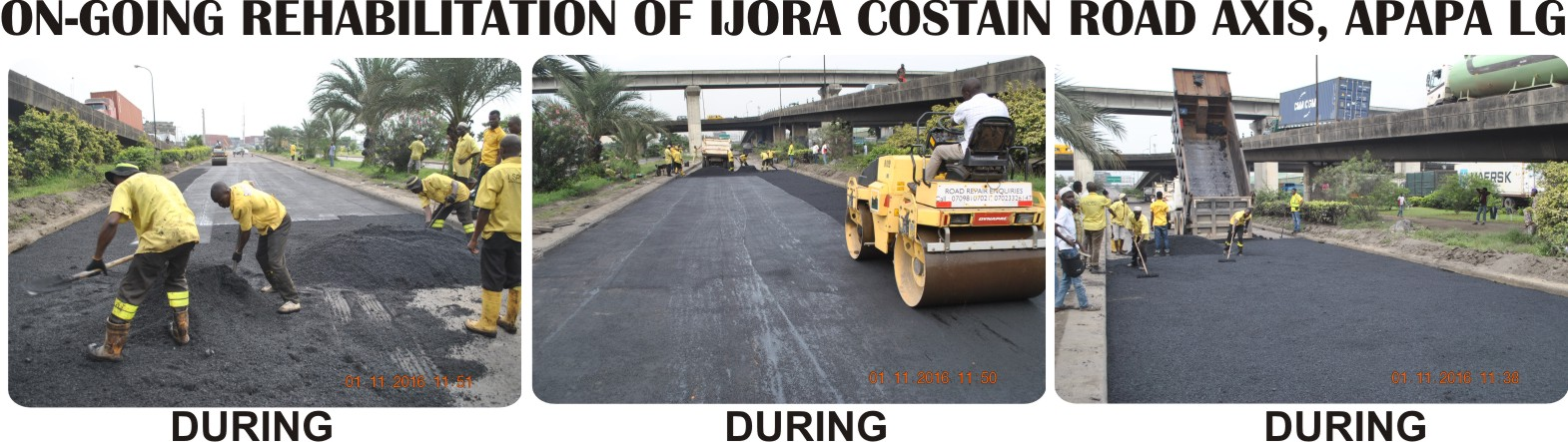 Photo of BRIEF REPORT ON THE ACTIVITIES OF LAGOS STATE PUBLIC WORKS CORPORATION FROM MONDAY JANUARY 23RD – FRIDAY JANUARY 27TH, 2017