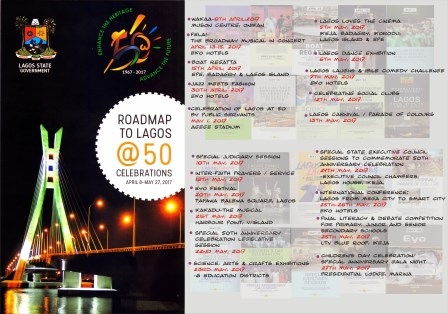 Photo of THE PROGRAMME OF EVENTS FOR LAGOS @ 50 CELEBRATION