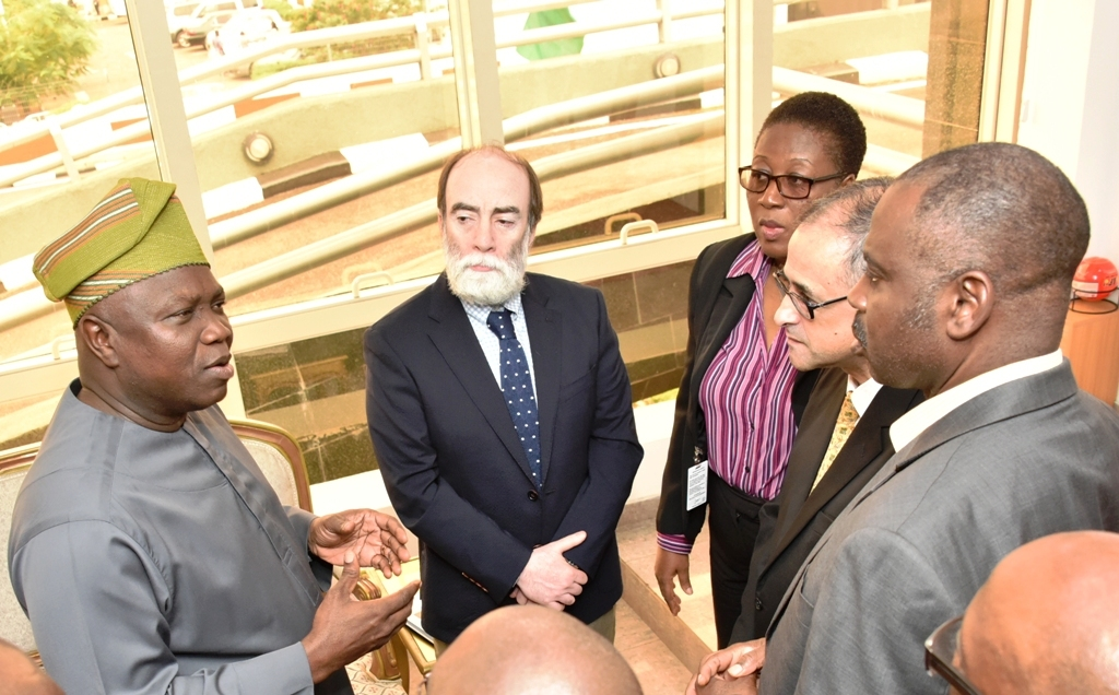 Photo of GOV. AMBODE RECEIVES COUNTRY DIRECTOR OF WORLD BANK, RACHID BENMESSAOUD AT LAGOS HOUSE, IKEJA