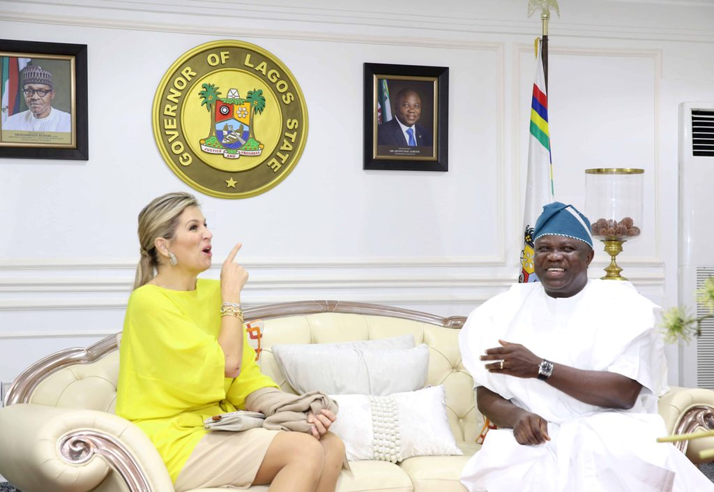 Photo of GOV. AMBODE RECEIVES HER MAJESTY, QUEEN MAXIMA ZORREGUIETA CERRUTI OF THE NETHERLANDS AT LAGOS HOUSE, IKEJA