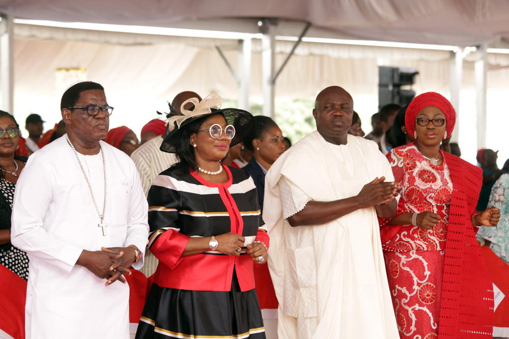 Photo of GOV. AMBODE, HIS WIFE AT 2017 CHRISTMAS CAROL SERVICE AT LAGOS HOUSE, IKEJA