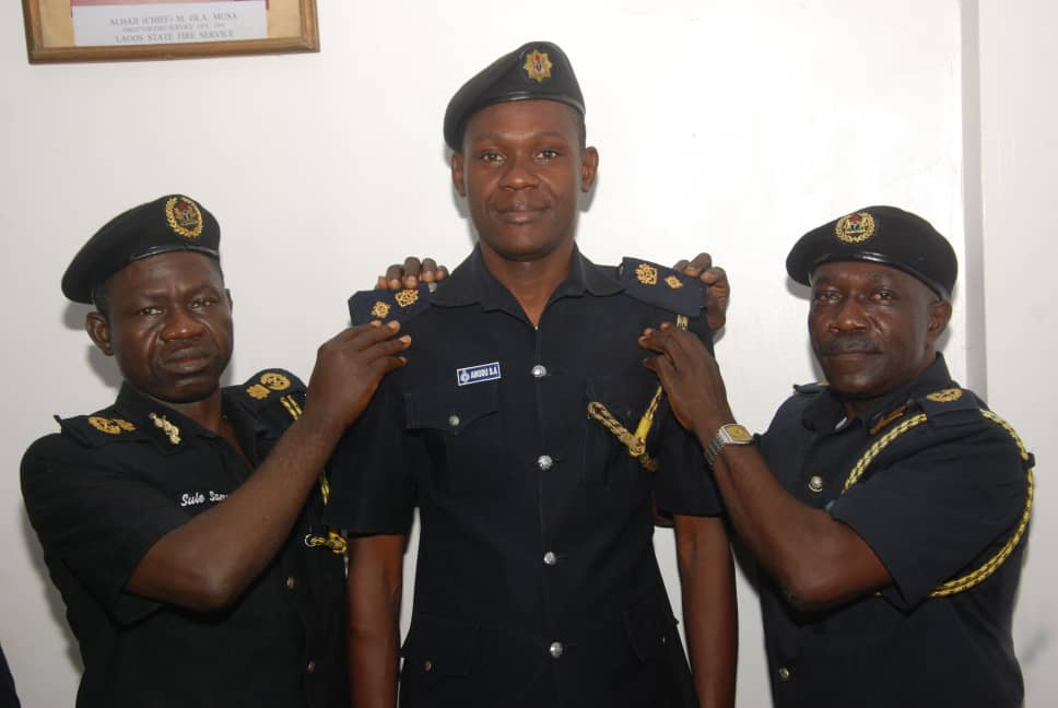 Photo of LASG PROMOTES 131 FIRE OFFICERS