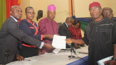 Photo of LASG/LASACO PRESENT LETTERS OF INSURANCE BENEFIT TO RELATIVES OF DECEASED STAFF