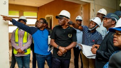 Photo of GOV. SANWO-OLU INSPECTS REVENUE HOUSE AND SECRETARIAT EXTENSION, ALAUSA ON TUESDAY, JULY 30, 2019