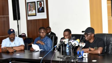 Photo of GOV. SANWO-OLU MEETS WITH GOVERNMENT HOUSE CORRESPONDENTS, STAFF OF BAGAUDA KALTHO PRESS CENTRE, ALAUSA, IKEJA