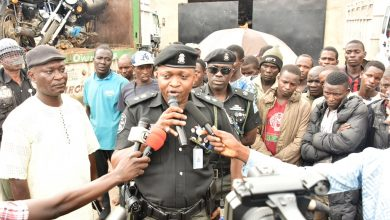 Photo of LAGOS TASKFORCE INTERCEPTS TRUCK WITH 123 MEN, 48 BIKES