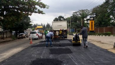Photo of Repair of a failed section of Billings way, Oregun Ikeja by Lagos State Public Works Corporation