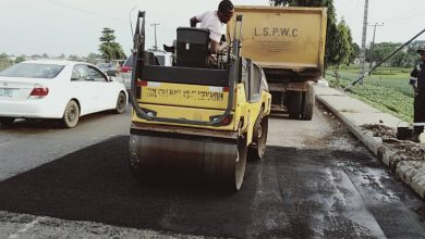 Photo of Maintenance work gradually rounding up on LASU Iba road. Maintenance work done today at different sections of the road precisely, opposite West Edge Hotel, by Lasu U-Turn and by Lasu entrance and exit gate