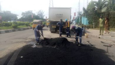 Photo of Maintenance work done at Eric Moore road by Nigeria Ropes Limited, Surulere