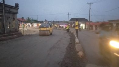 Photo of Base regulation with Crushed Stones done by LSPWC at Jonathan Coker road, by Dayo Adeniji, Amala Junction, Ifako Ijaiye.