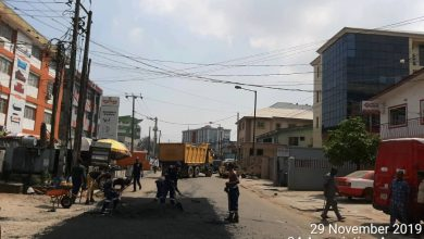 Photo of Repair of sections of road by LSPWC continued today at Association Avenue, Industrial Crescent and Coker road, Ilupeju-Mushin
