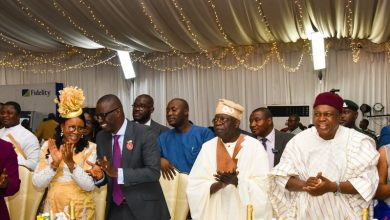 Photo of GOVS SANWO-OLU, ISHAKU, ASIWAJU TINUBU, DANJUMA AT THE ANGLICAN CHURCH NATIONAL SERVICE AND GALA NITE IN LAGOS