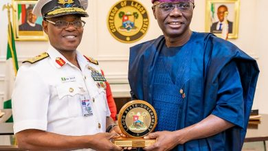 Photo of GOV. SANWO-OLU MEETS WITH THE FLAG OFFICER COMMANDING, WESTERN NAVAL COMMAND, REAR ADMIRAL OLADELE DAJI AT LAGOS HOUSE, IKEJA ON THURSDAY 30TH JANUARY, 2020