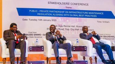 Photo of GOV SANWO-OLU AT LAGOS STATE INFRASTRUCTURE MAINTENANCE AND REGULATORY AGENCY (LASIMRA) STAKEHOLDERS' CONFERENCE AT THE AGIP RECITAL HALL, MUSON CENTRE, ONIKAN, ON TUESDAY, JANUARY 14, 2020.