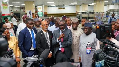 Photo of GOV SANWO-OLU ON INSPECTION VISIT TO MURTALA MUHAMMED INTERNATIONAL AIRPORT, LAGOS FOR CORONAVIRUS SCREENING PROCEDURE ON TUESDAY, MARCH 17, 2020.
