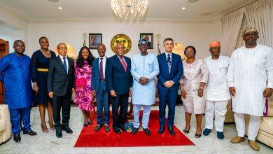 Photo of GOV. SANWO-OLU RECEIVES EXECUTIVE MANAGEMENT OF DANGOTE CEMENT PLC AT LAGOS HOUSE, MARINA, ON WEDNESDAY, MARCH 18, 2020