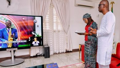 Photo of GOV. SANWO-OLU, HIS WIFE WORSHIP ONLINE FOR EASTER SERVICE ON SUNDAY, APRIL 12, 2020