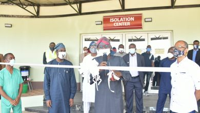 Photo of GOV. SANWO-OLU OPENS ISOLATION CENTRE FOR COVID-19 TREATMENT AT THE GBAGADA GENERAL HOSPITAL ON FRIDAY, MAY 1, 2020