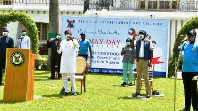 Photo of GOV. SANWO-OLU ATTENDS MAY DAY CELEBRATION HELD AT LAGOS HOUSE, MARINA ON FRIDAY, MAY 1, 2020